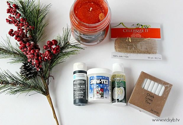 DIY Holiday Chalkboard Jar Candle Project