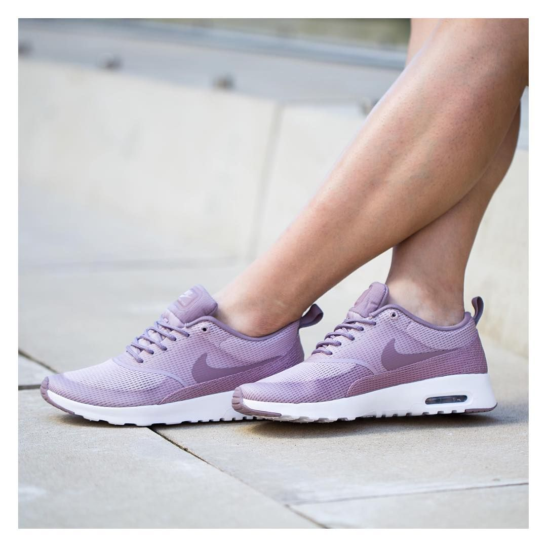 """online store fa313 231c9 """"The women s Air Max Thea is equipped with a premium textile upper, sleek  low cut profile and lightweight cushioning. The Plum Fog Purple Smoke White  is…"""""""