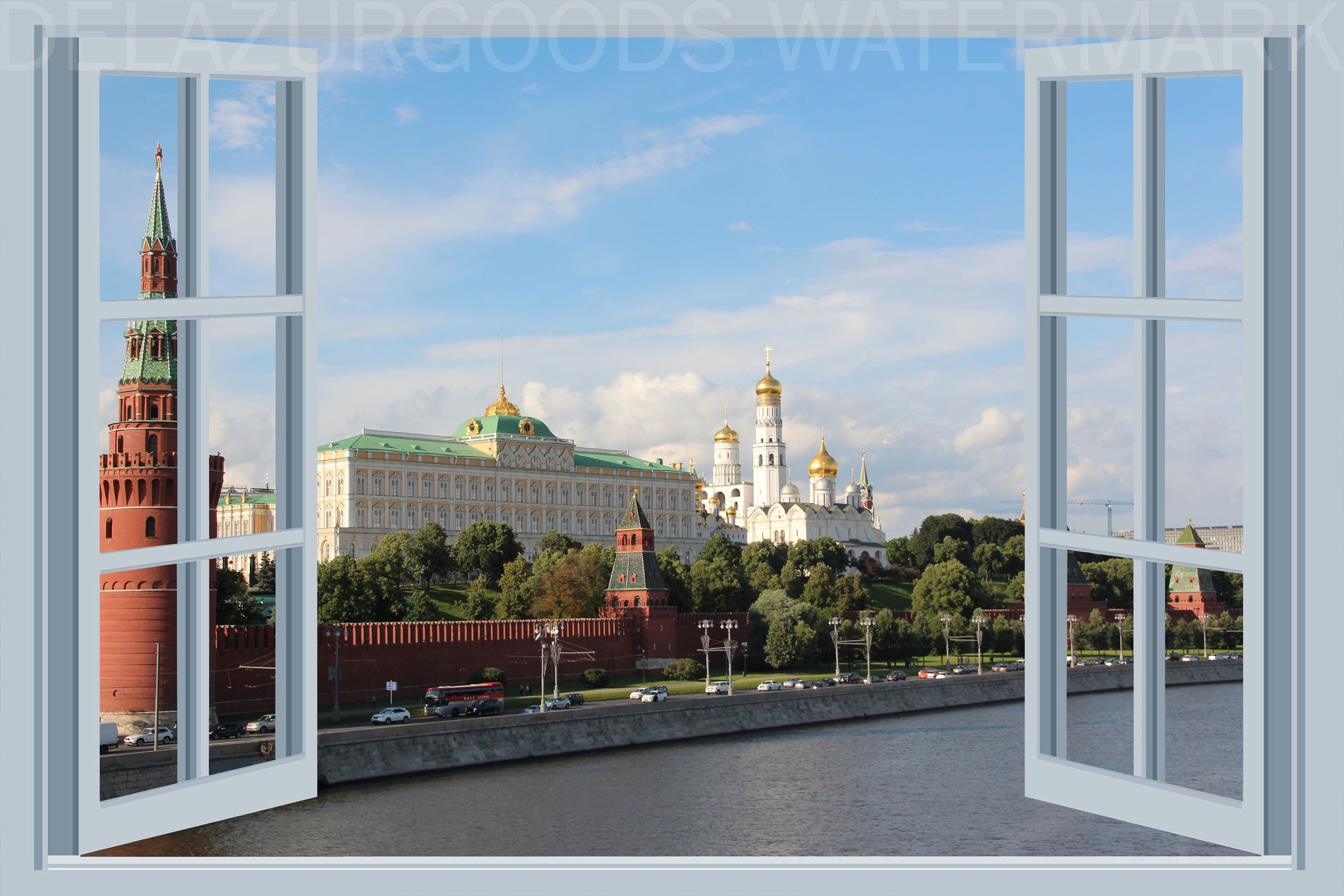 Red Square Window View Wallpaper Peel And Stick Etsy Window View View Wallpaper Square Windows