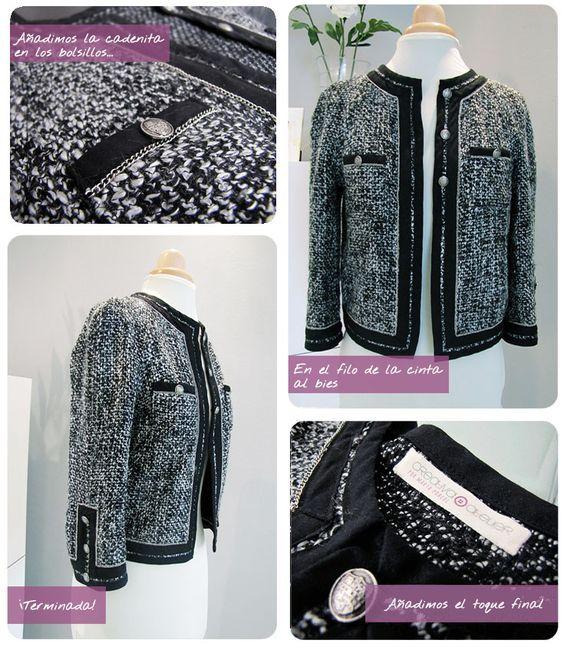 Chaqueta De Tweed Tipo Chanel. #DIY