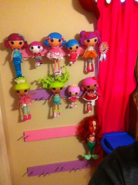 Lalaloopsy Doll holder or any small doll Appears to be broom clips mounted    painted on   Taylor S LalaloopsyLalaloopsy IdeasDolls. Lalaloopsy Canvas Pictures Prints Bedroom Girls 6 Designs and 2