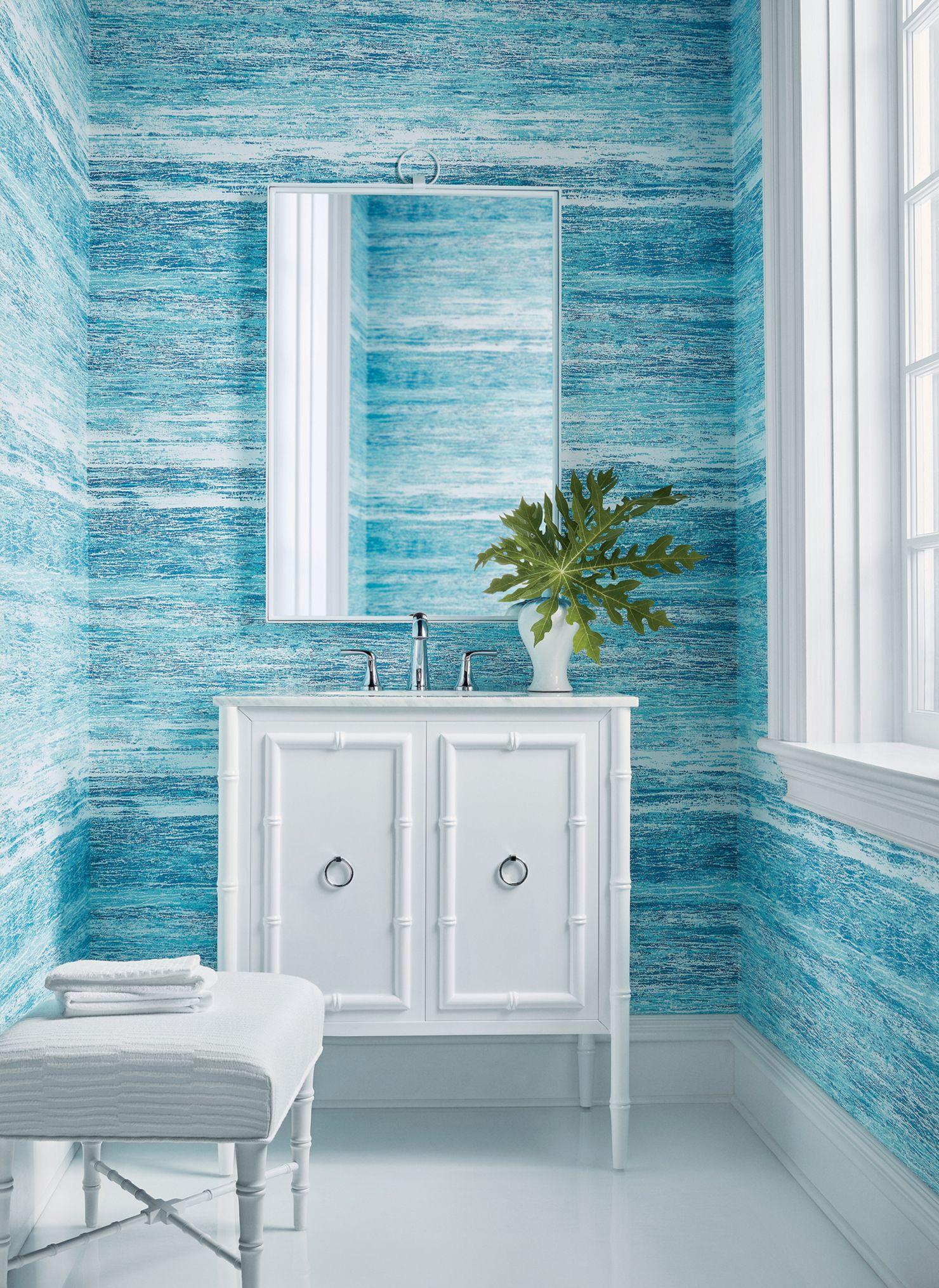 Thibaut Wallpapers in 2020 | Bathroom wallpaper trends ...