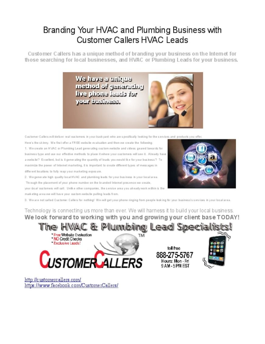 Customercallers Branding Your Business Led Plumbing