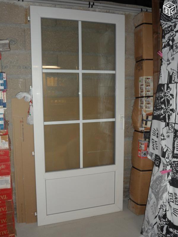 Porte terrasse 1 battant pvc blanc Bricolage Seine-et-Marne