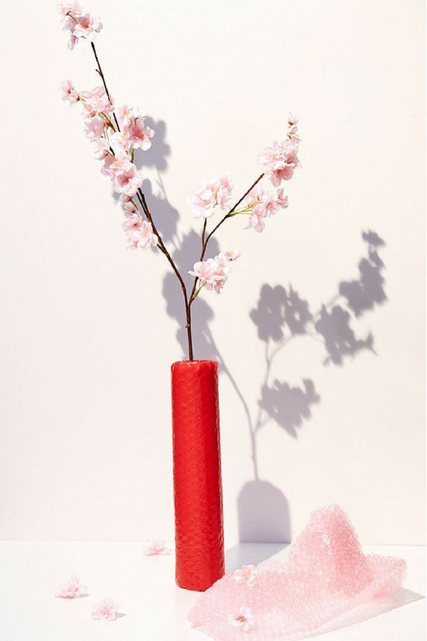 Cherry Blossom Faux Flower Bring Springtime To Your Space No Matter The Weather With This Faux Cherry Blossom Artificial Flowers Red Vase Decor Faux Flowers