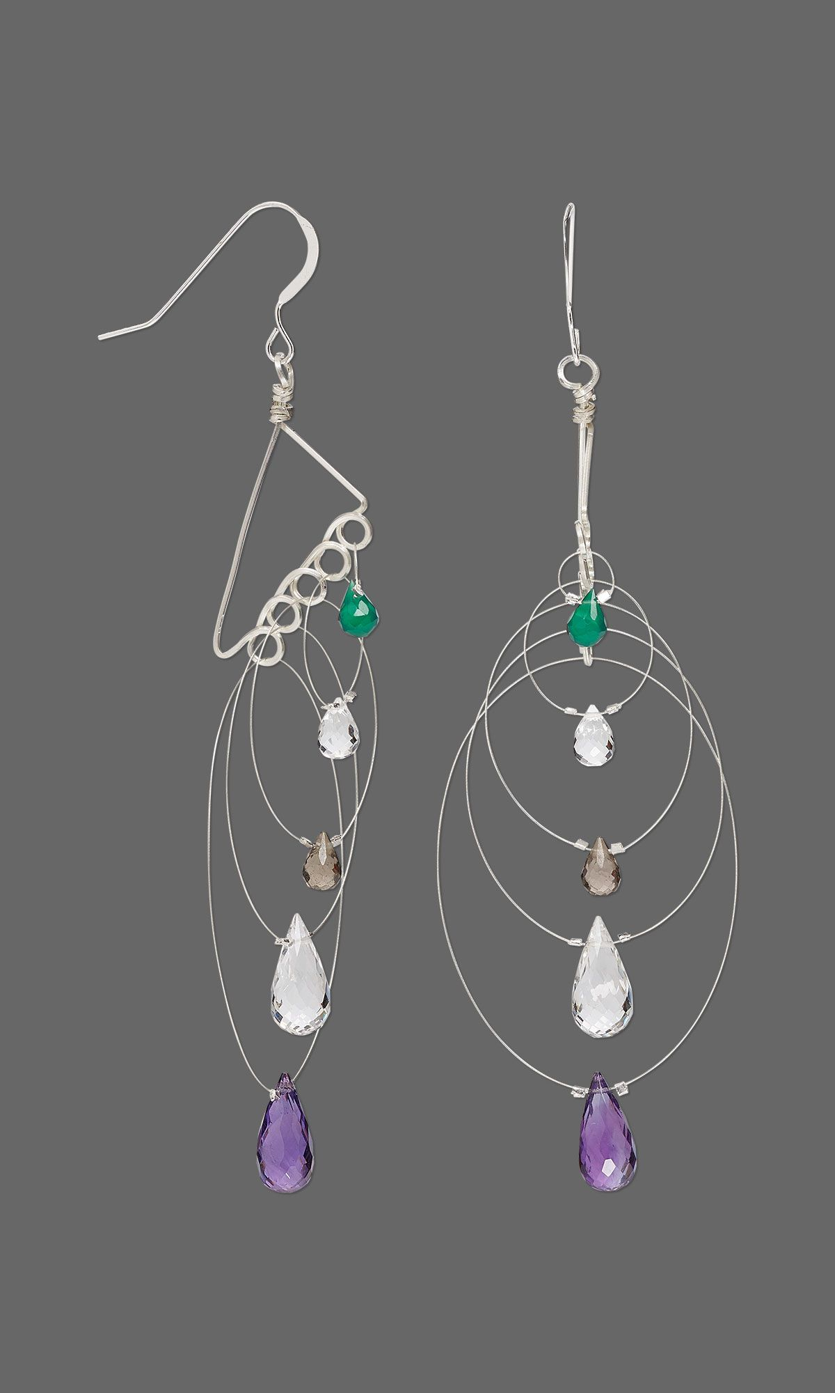Jewelry Design - Earrings with Gemstone Beads, Accu-Flex® Beading ...