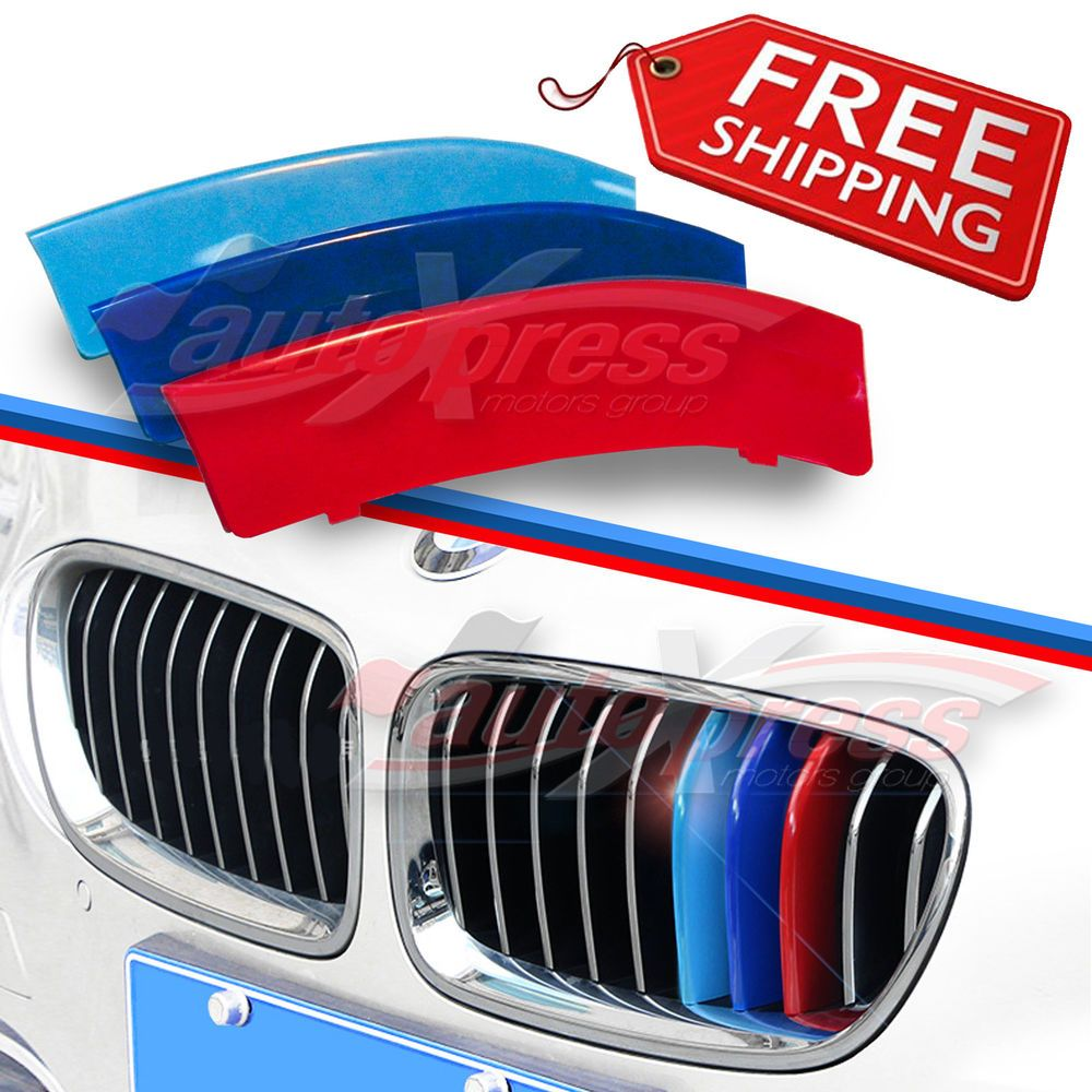 M Tech 11 Slat Kidney Grille 3 Color Cover Clip For Bmw 3 Series F30