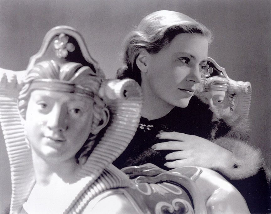 1940 Lee Miller Self Portrait With Sphinxes Vogue Studio From