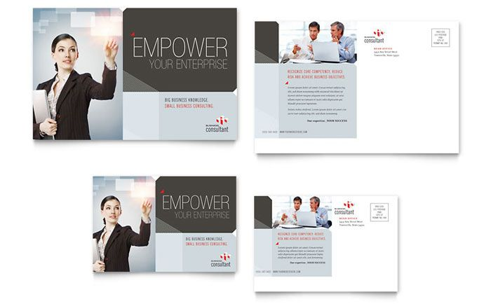 Corporate Business Postcard Template Design by StockLayouts - free business flyer templates for word