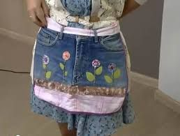 Como fazer um avental com seu jeans velho VilaMulher