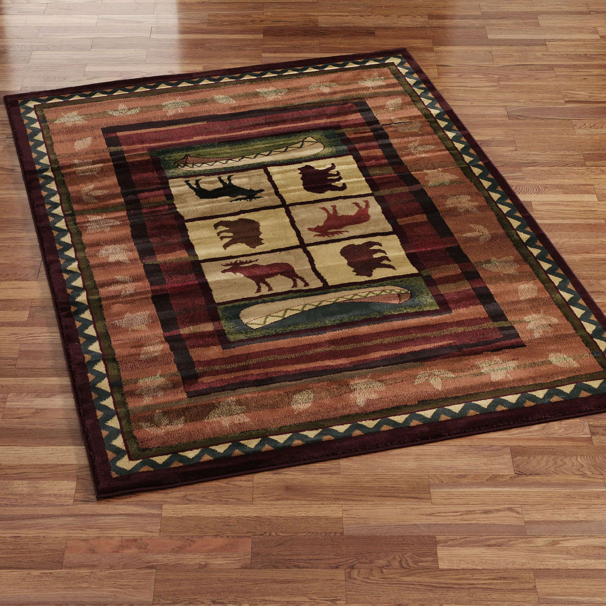 Cabin Area Rugs For A Cabin Or Lodge Themed Home The