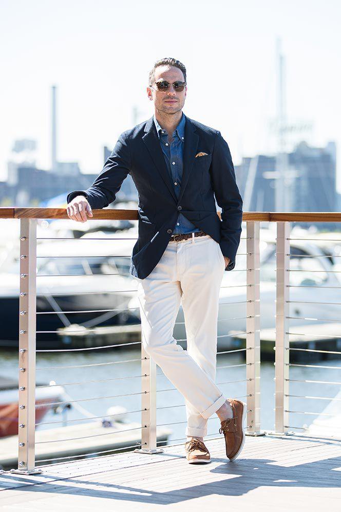 Tommy Hilfiger Blazer Brunello Cucinelli Shirt J Crew Chinos Jack Erwin Boat Shoes He Spoke