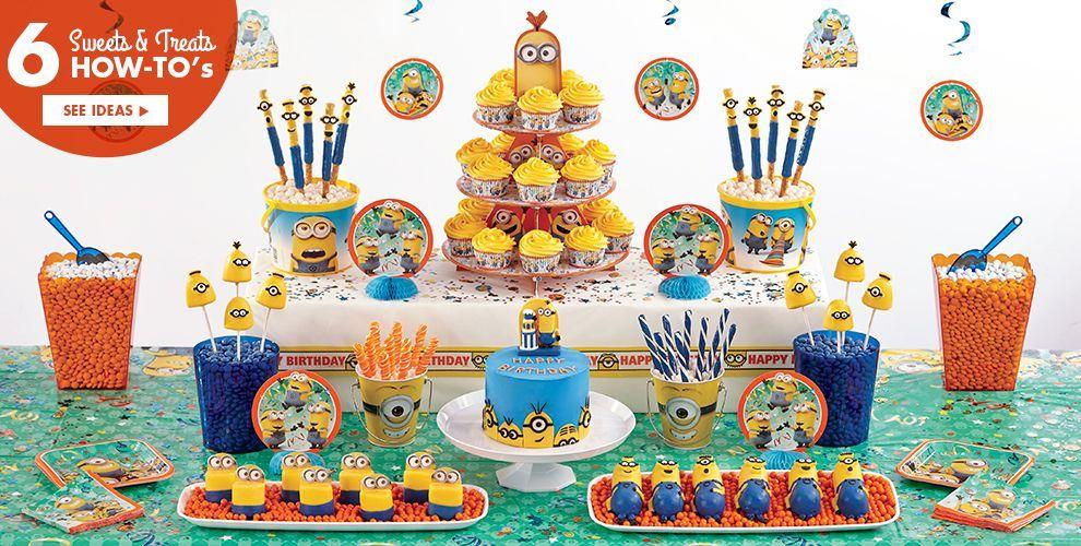 Party City Minion Cake Supplies Minion Cupcake Cookie Ideas