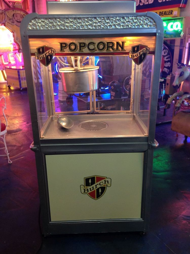 1930 S Burch Mfg Art Deco Commercial Movie Theatre Popcorn Machine Movie Theater Popcorn Popcorn Machine Movie Theater