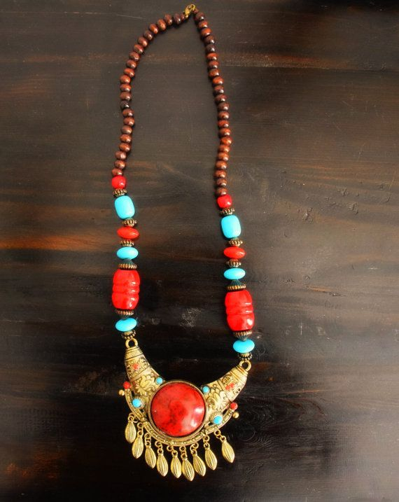 Indian statement Boho necklace Bollywood Gypsy by GoddessAyurveda