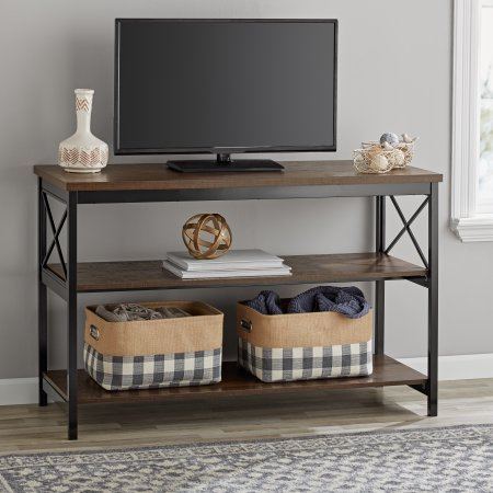 Pleasing Mainstays 3 Shelf Tv Console Table For Most 42 Inch Tvs Machost Co Dining Chair Design Ideas Machostcouk