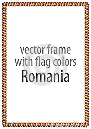 Frame And Border Of Ribbon With The Colors Of The Romania Flag Netherlands Flag Lithuania Flag Belgium Flag