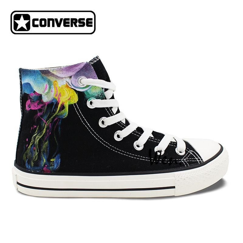 482120bbfc52 ... purchase cheap bc0be e9ca2 Original Design Hand Painted Shoes Colorful  Smoke High Top Converse All Star ...