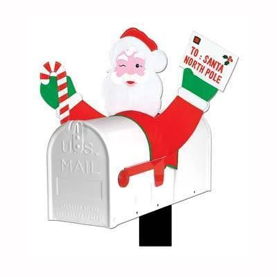 Santa Claus Mailbox Cover Holiday Decoration Funny New