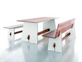 Wohnzimmertisch walnuss ~ Conmoto tisch tension wood weiß schwarze kante nussbaum tafeln