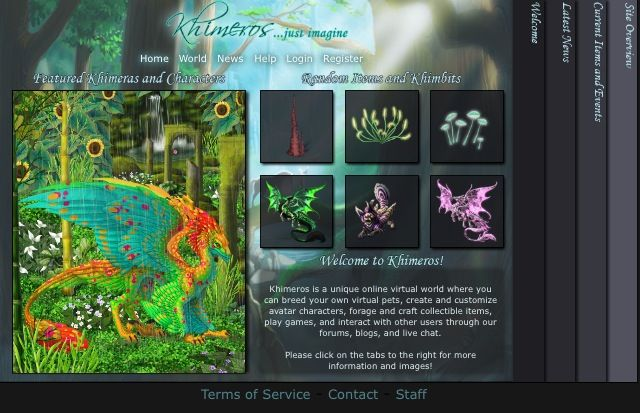 Khimeros Is A Unique Online Virtual World Where You Can Breed Your Own Virtual Pets Create And Customize Avatar Ch Virtual Pet Avatar Characters Virtual World
