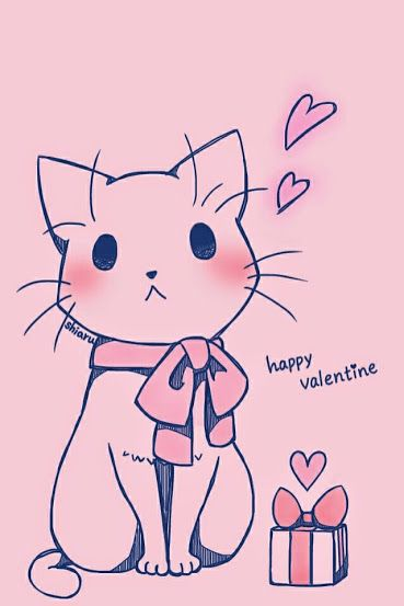 Pin By Rosie On Anime In 2019 Cute Drawings Kitten Drawing