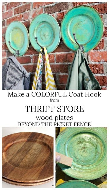 Thrifty Thursday Wood Plate Upcycle