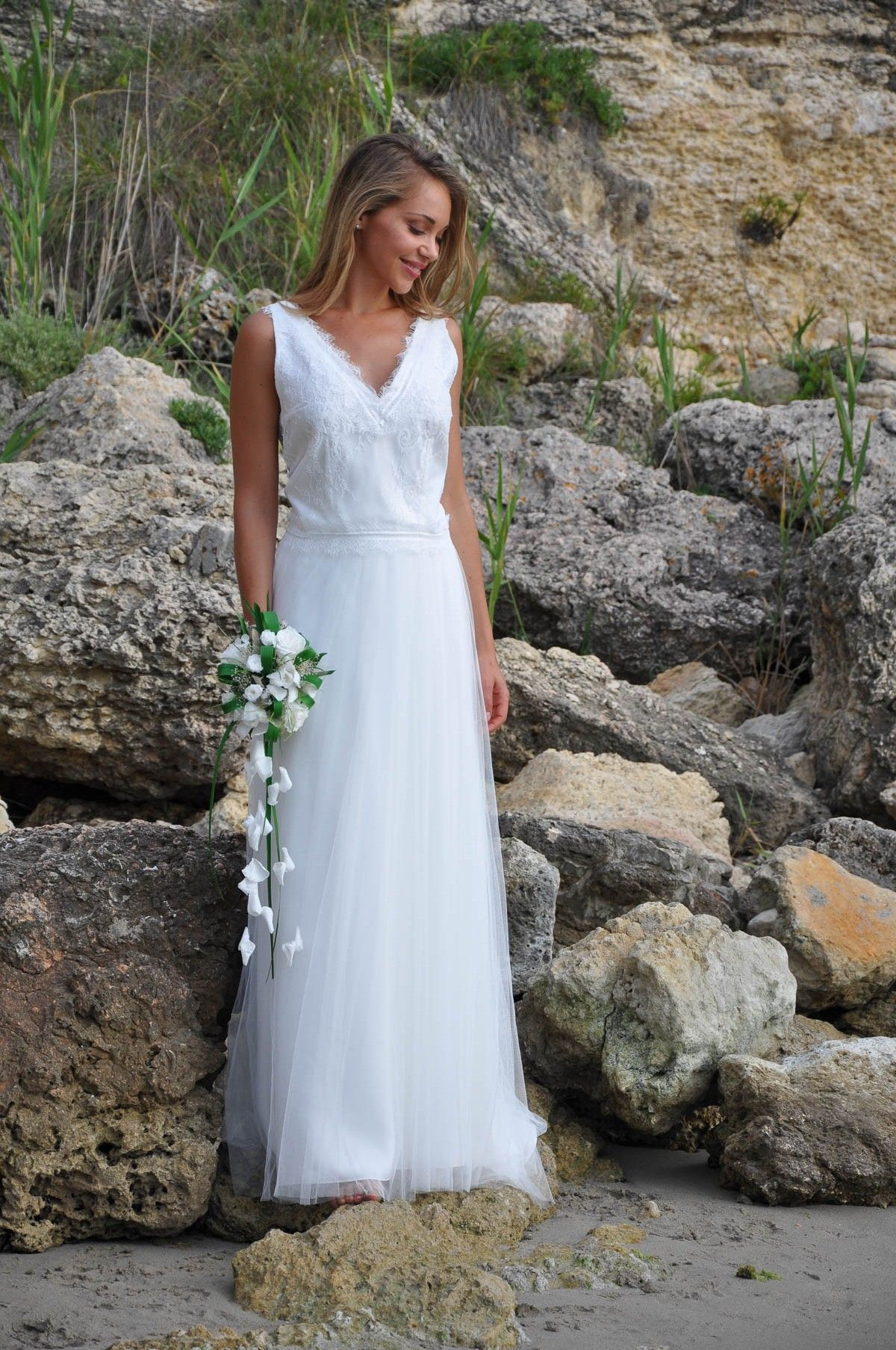 Modèle Zelia Pour Un Mariage Romantique Mariage Bohème Une Robe De Mariée 2 Pièces Avec Une Jupe Robe De Mariee Champetre Robe Mariee Boheme Robe De Mariage