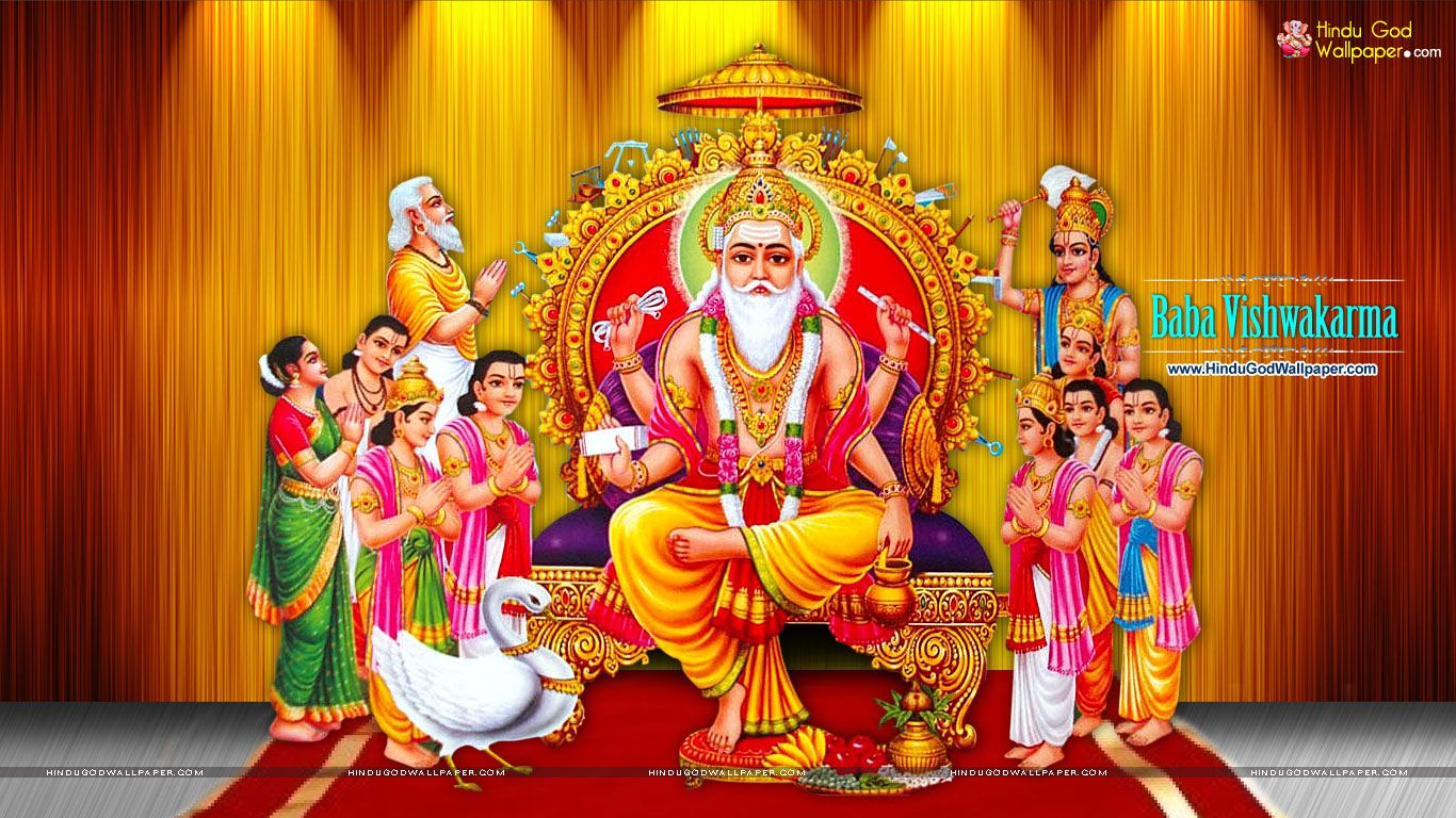 Free Vishwakarma Puja Wallpaper Download For Desktop And Hd Full