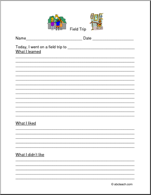 Field Trip Worksheets Activities For Homeschool And Parents Abcteach School Field Trip Homeschool Field Trips Field Trip