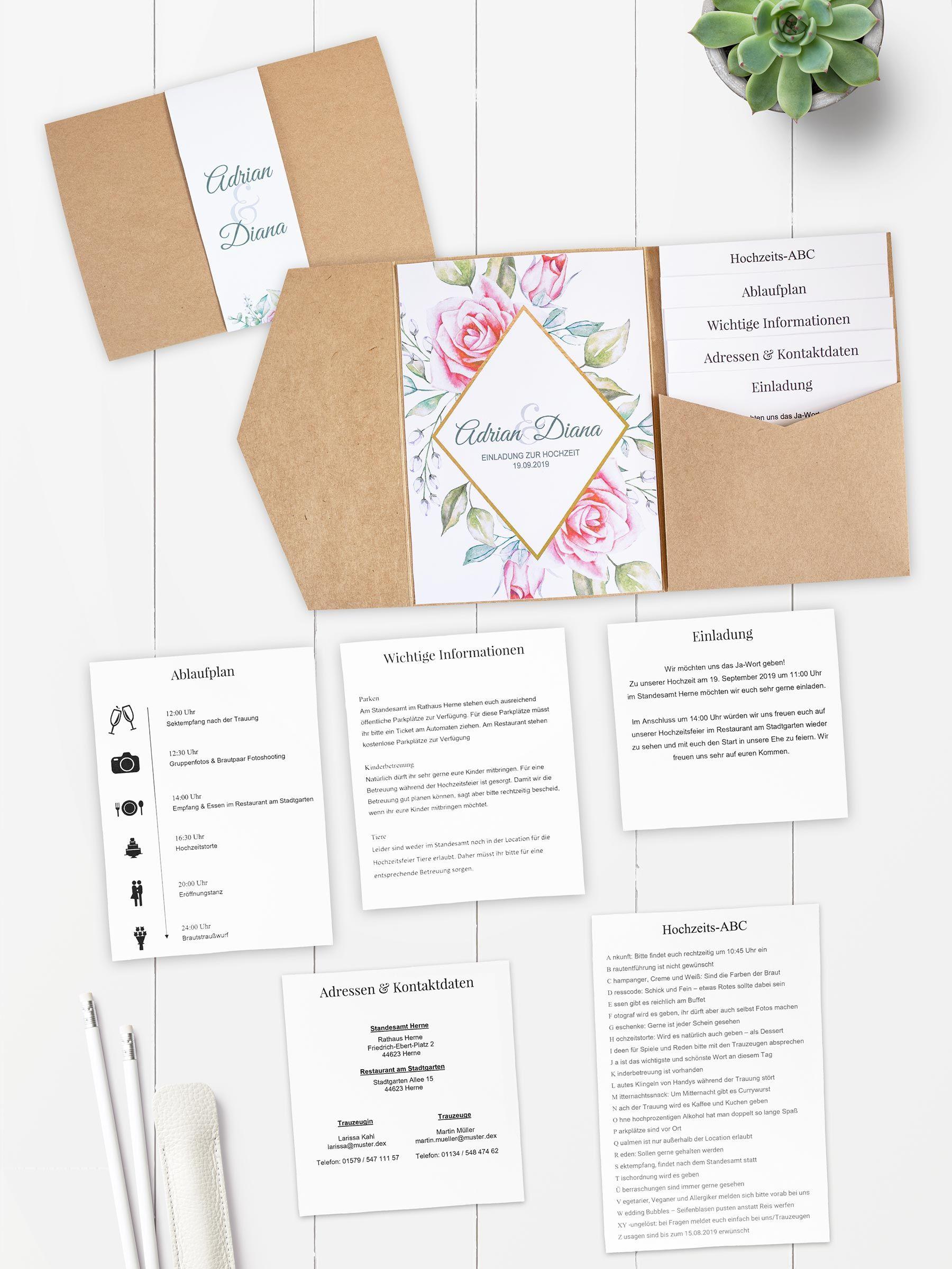Diy Pocketfold Einladung Zur Hochzeit Einladungen Hochzeit Einladung Hochzeit Text Hochzeitseinladung