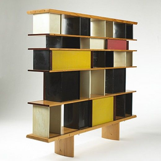 charlotte perriand 39 s bookcase bibliotheque from the. Black Bedroom Furniture Sets. Home Design Ideas