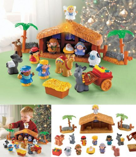 Kids Nativity Scene Playset Fisher Price Little People A Christmas