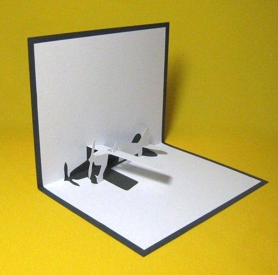 Aeroplane Pop Up Card By Galinblack Pop Up Card Templates Pop Up Cards Diy Book