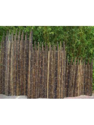Clôture bambou japonaise noir Ø5cm | Jardin décoration | Pinterest ...