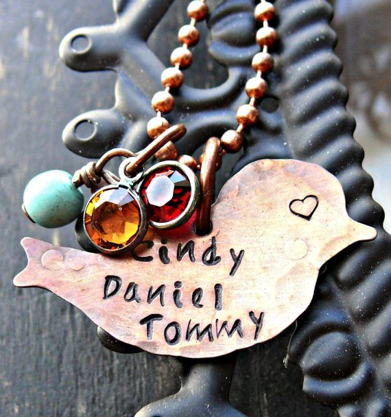 Hand Stamped Necklace  Personalized Necklace  by yourcharmedlife, $38.00
