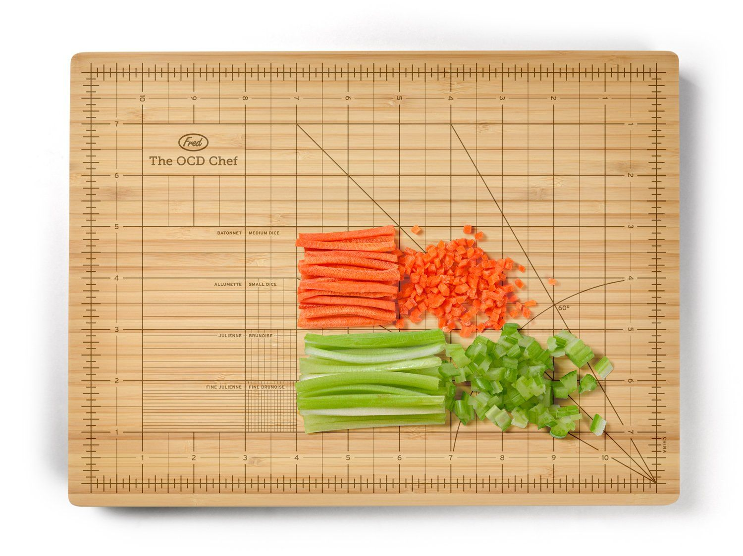 Amazon.com: Fred & Friends THE OBSESSIVE CHEF Bamboo Cutting Board, 9-inch by 12-inch: Obsessive Chef Cutting Board: Kitchen & Dining