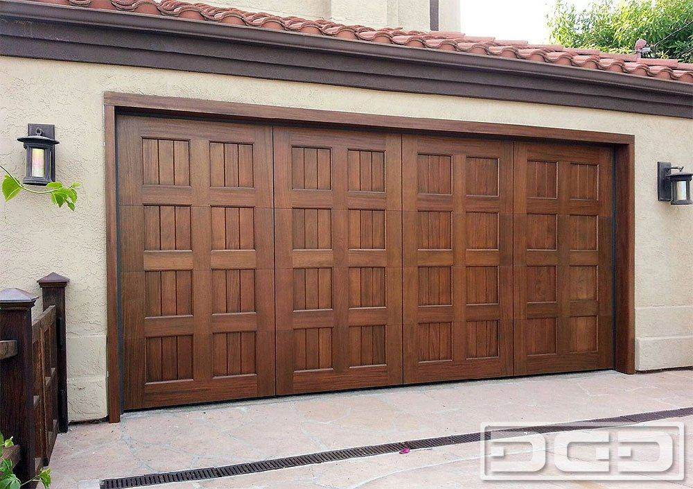 San diego ca custom wood garage door in a mediterranean for Wood look garage doors