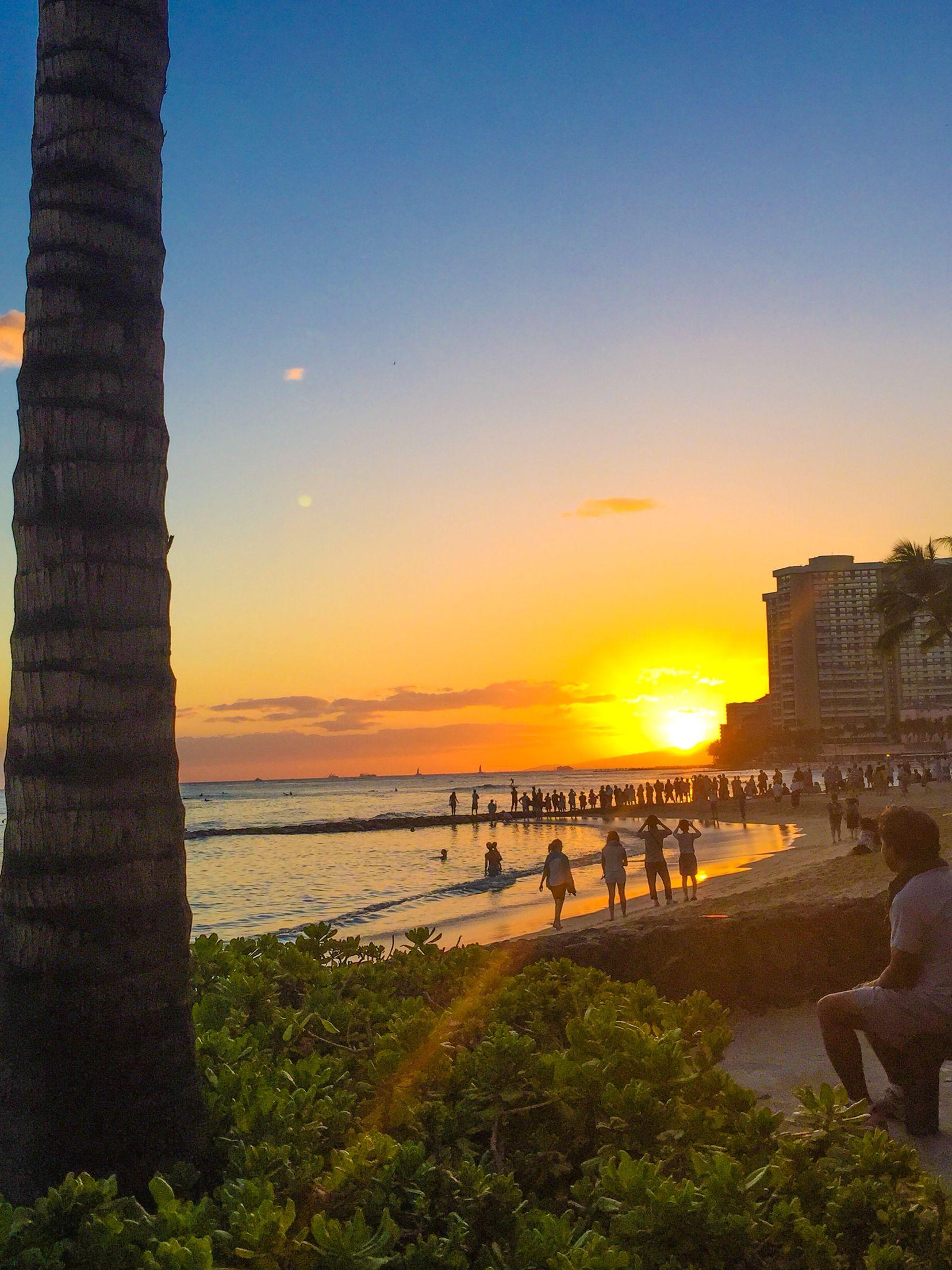 Sungazing at waikiki beach hawaiui true to nature pinterest