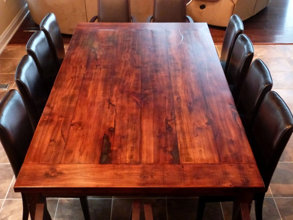 Reclaimed Wood Dining Table DIY - Reclaimed Wood Dining Table DIY New Split Level House