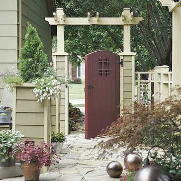 Gated Arbor Ideas Suelos exterior, Jardín y Terraza jardin