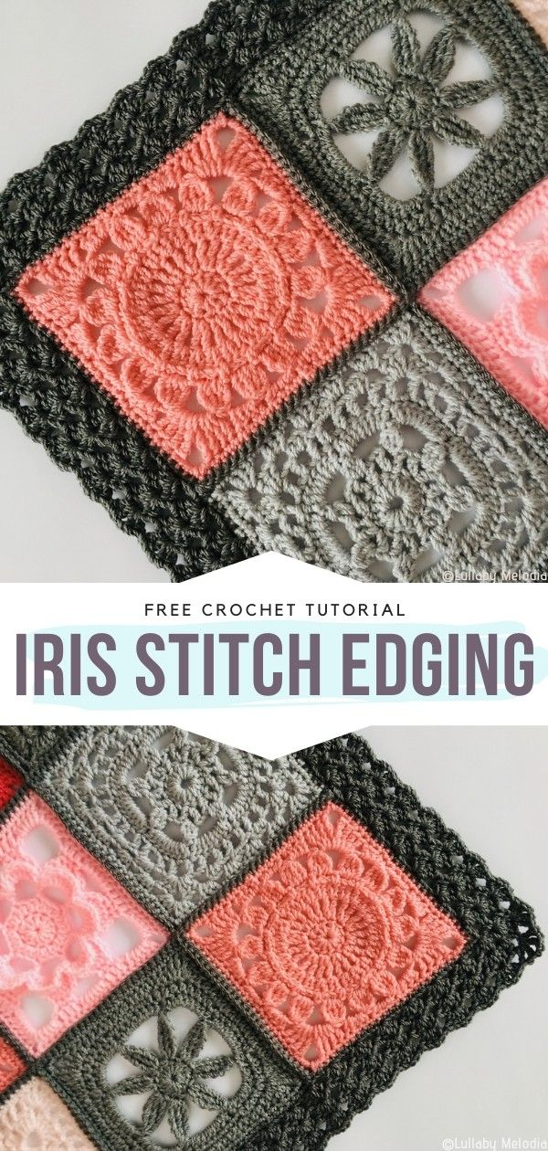 How to Crochet Iris Stitch Edging #crochetstitchespatterns