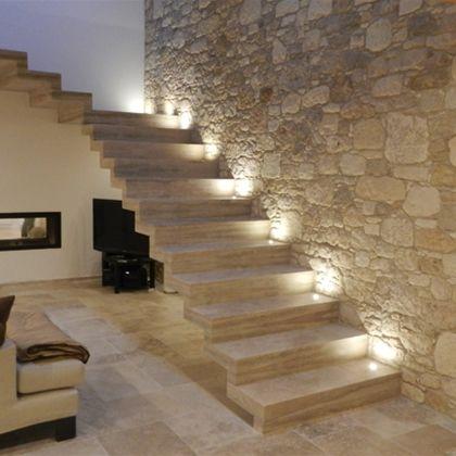 PARETE SCALE | Muri in pietra interni, Progettazione scale ...