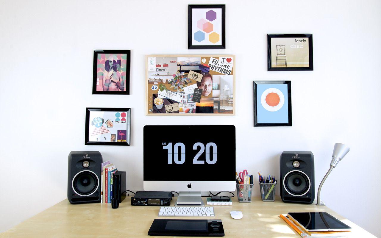 Best Kitchen Gallery: Modern Workspace  Imac Ipad Minimal Desks Reader Pierre of Graphic Design Workspace  on rachelxblog.com