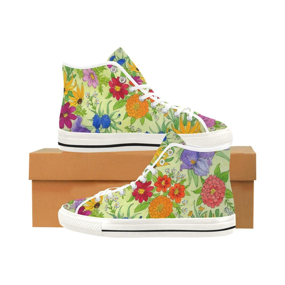 41c5481dfc826 FLORAL GARDEN High Top Women's Sneakers | Products | Sneakers, Shoes ...