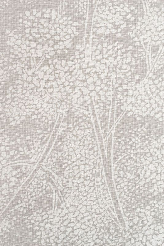 Woodsford Linen Fabric Light grey Linen fabric with large white ...