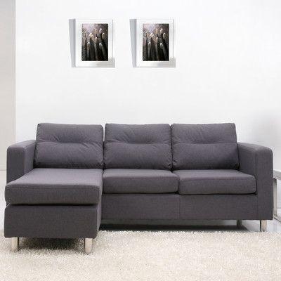 Gold Sparrow Detroit Convertible Sectional Sofa And Ottoman Allmodern