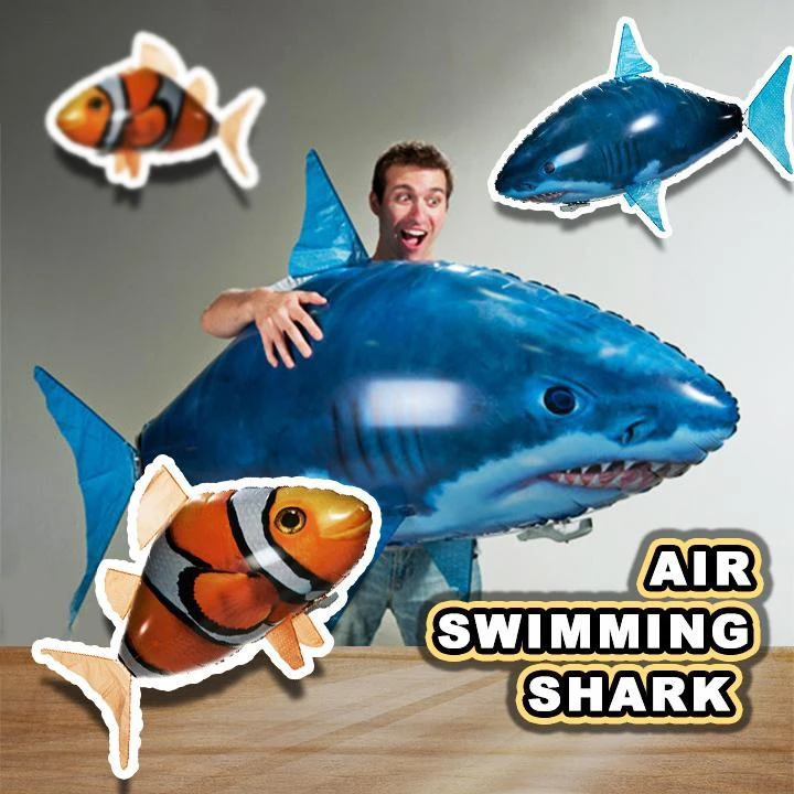 Air Swimmers Remote Control Flying Shark in 2020 Air