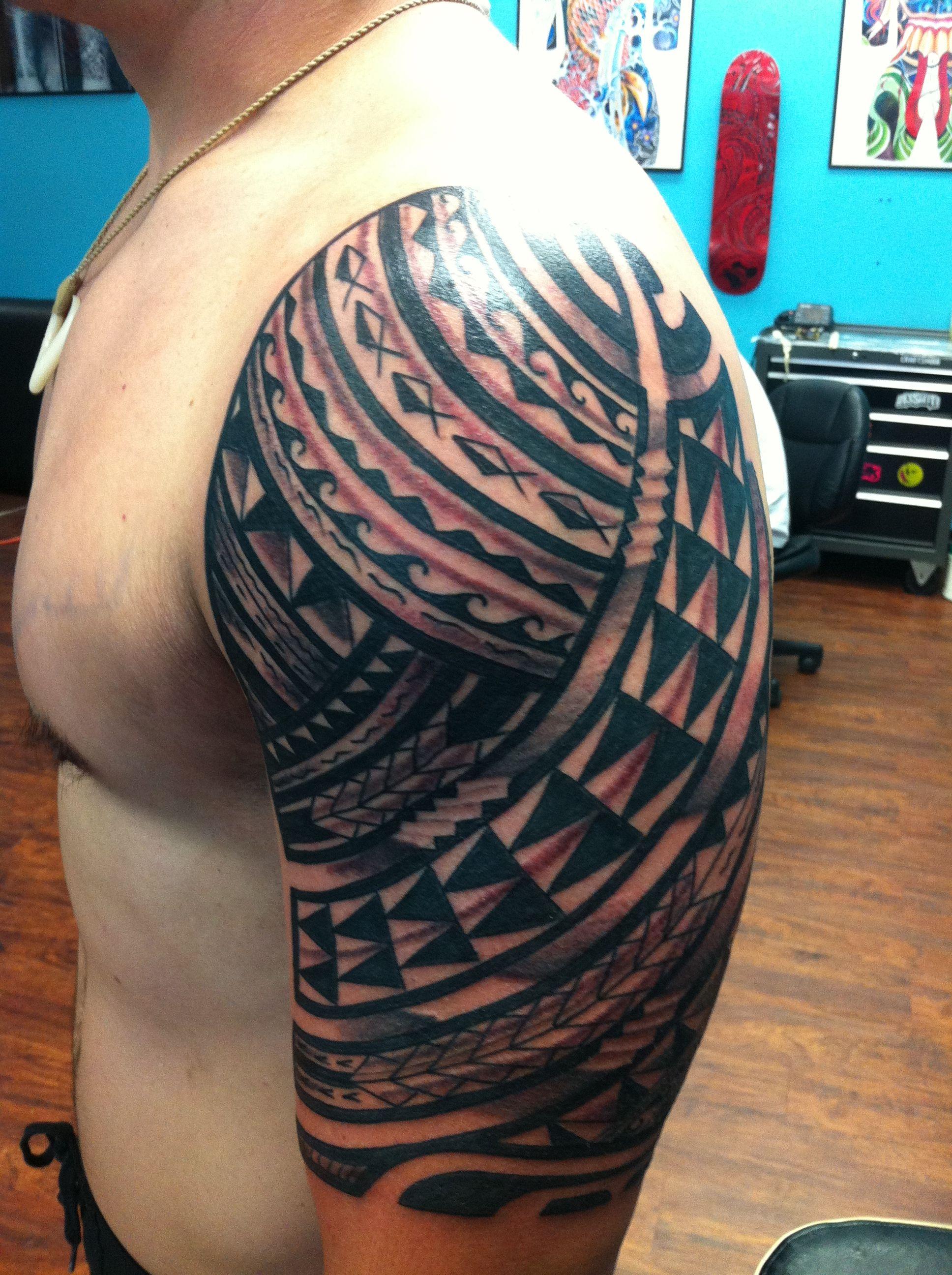 Hawaiian tattoo arm sleeve polynesian tattoos pinterest hawaiian tattoo arm sleeve biocorpaavc Image collections