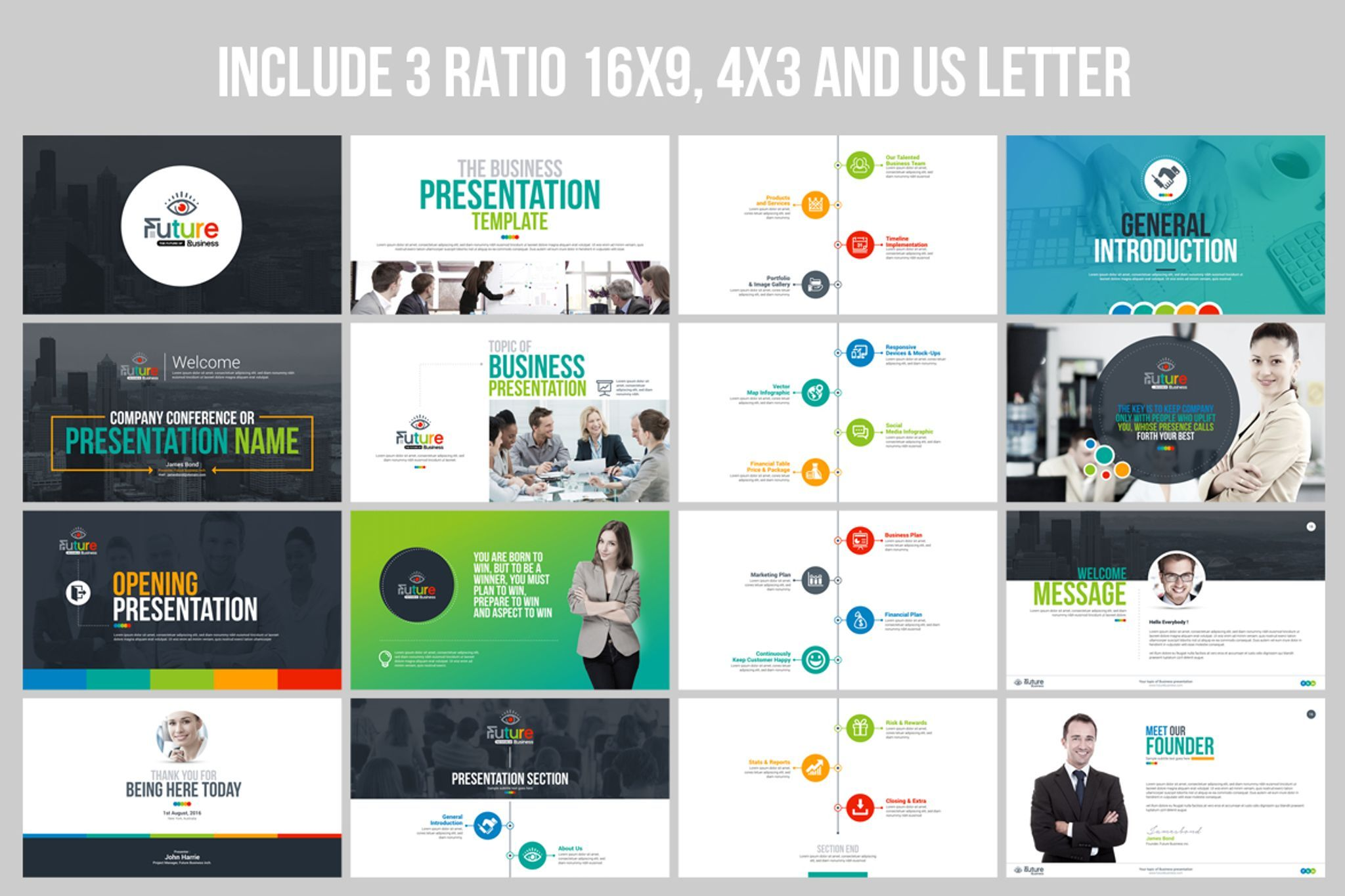 Business Plan Presentation Animated PPTX, Infographic